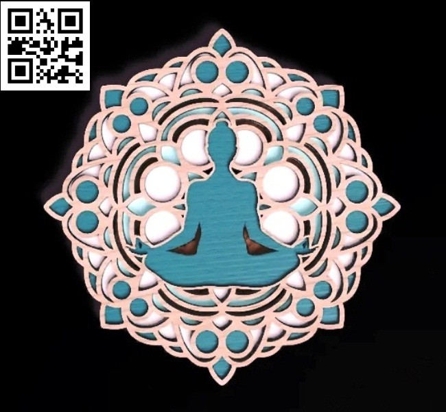 Meditation Mandala E0014855 file cdr and dxf free vector download for laser cut