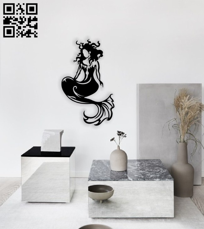 Mermaid E0014566 file cdr and dxf free vector download for laser cut plasma