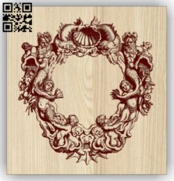 Mermaid wall decor E0014785 file cdr and dxf free vector download for laser engraving machine