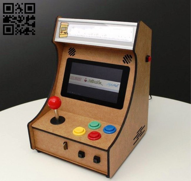 Mini Pi-Powered arcade machine E0014618 file cdr and dxf free vector download for laser cut