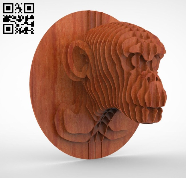Monkey 3D puzzle E0014616 file cdr and dxf free vector download for laser cut