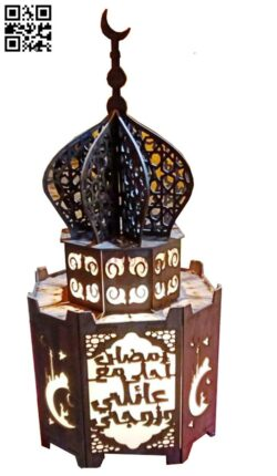 Mosque lamp E0014820 file cdr and dxf free vector download for laser cut