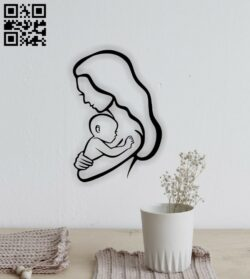 Motherhood E0014780 file cdr and dxf free vector download for laser cut plasma