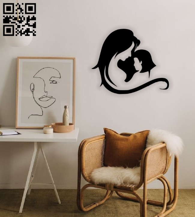 Mother's day wall decor E0014638 file cdr and dxf free vector download for laser cut plasma