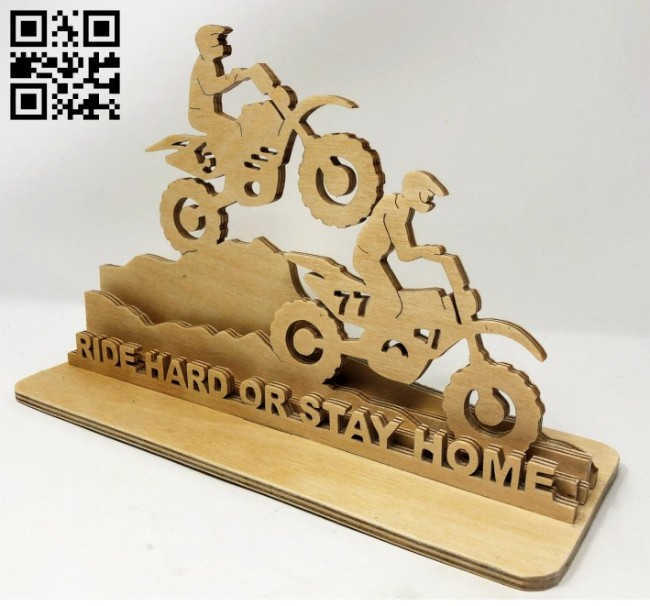 Motocross E0014675 file cdr and dxf free vector download for laser cut