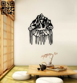 Mountain in hand E0014828 file cdr and dxf free vector download for laser cut plasma