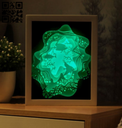 Ocean light box E0014571 file cdr and dxf free vector download for laser cut