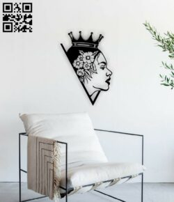 Queen wall decor E0014762 file cdr and dxf free vector download for laser cut plasma