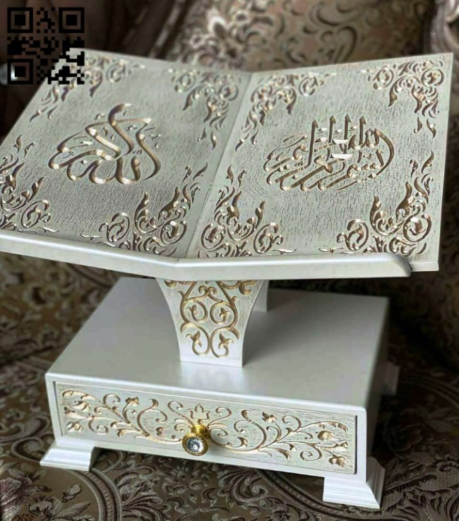 Quran holder E0014521 file cdr and dxf free vector download for laser cut