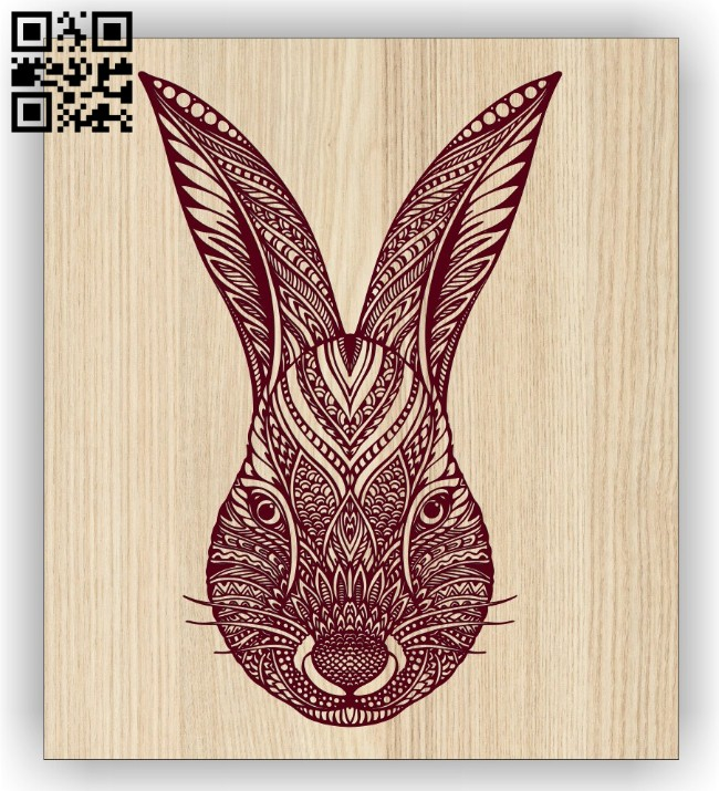 Rabbit E0014679 file cdr and dxf free vector download for laser engraving machine