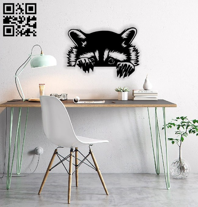 Raccoon E0014734 file cdr and dxf free vector download for laser cut plasma