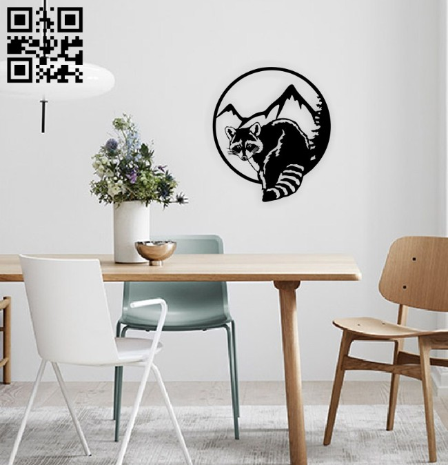 Raccoon E0014766 file cdr and dxf free vector download for laser cut plasma
