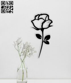 Rose E0014565 file cdr and dxf free vector download for laser cut plasma
