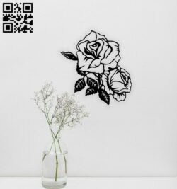 Rose wall decor E0014712 file cdr and dxf free vector download for laser cut plasma