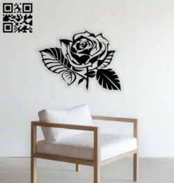 Rose wall decor E0014803 file cdr and dxf free vector download for laser cut plasma