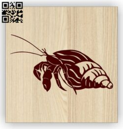 Sea snail E0014474 file cdr and dxf free vector download for laser engraving machine