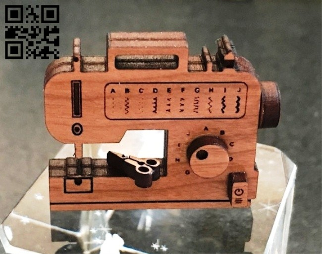 Sewing machine E0014561 file cdr and dxf free vector download for laser cut