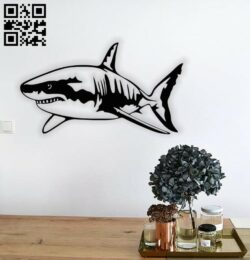 Shark wall decor E0014567 file cdr and dxf free vector download for laser cut plasma