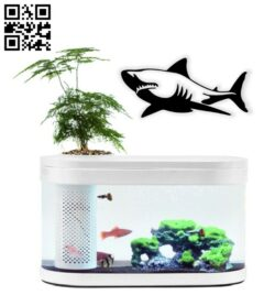Shark wall decor E0014688 file cdr and dxf free vector download for laser cut plasma