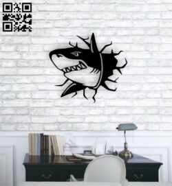 Shark wall decor E0014750 file cdr and dxf free vector download for laser cut plasma