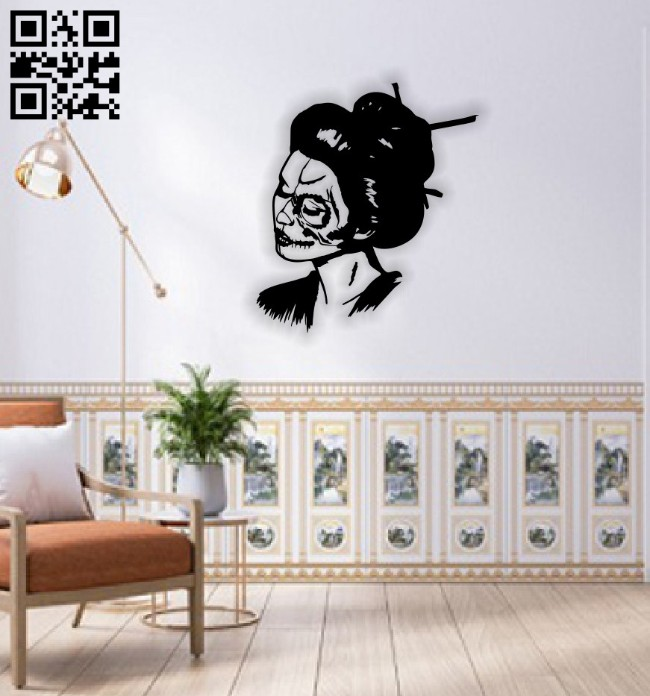 Skull girl wall decor E0014692 file cdr and dxf free vector download for laser cut plasma