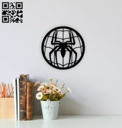 Spider wall decor E0014812 file cdr and dxf free vector download for laser cut plasma