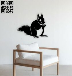 Squirrel E0014709 file cdr and dxf free vector download for laser cut plasma