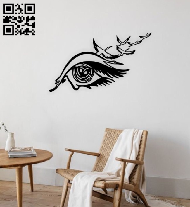 Storks wall decor E0014849 file cdr and dxf free vector download for laser cut plasma