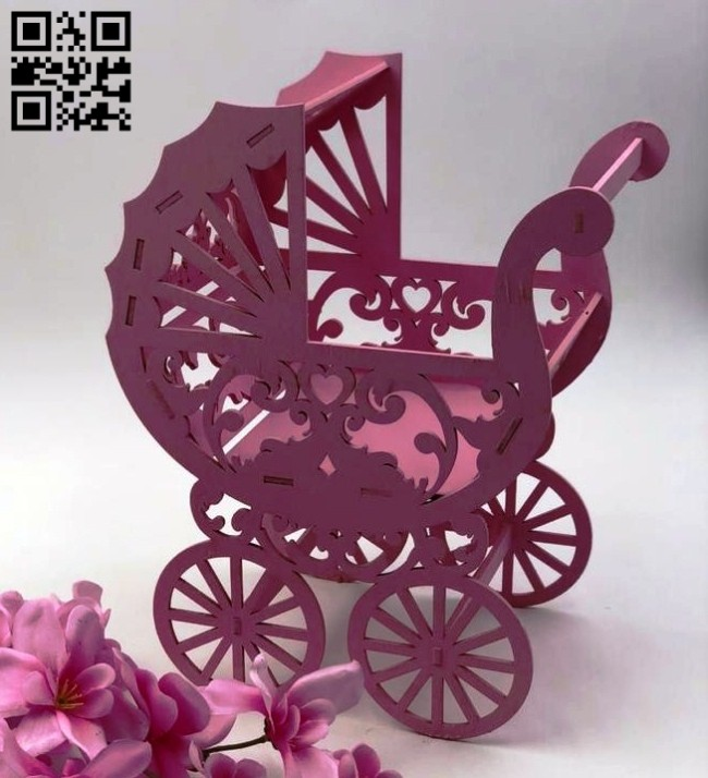Stroller E0014769 file cdr and dxf free vector download for laser cut