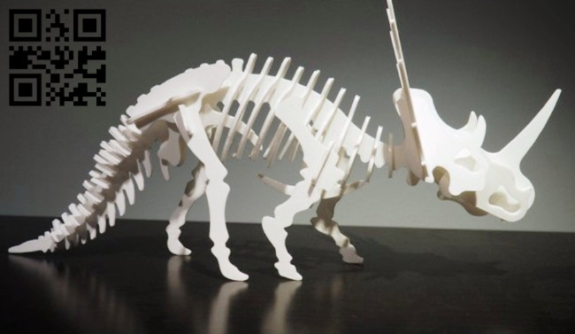 Styracosaurus dinosaur E0014723 file cdr and dxf free vector download for laser cut