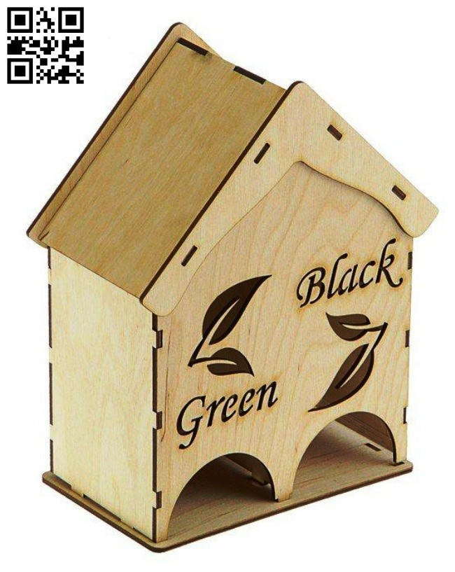 Tea house E0014725 file cdr and dxf free vector download for laser cut