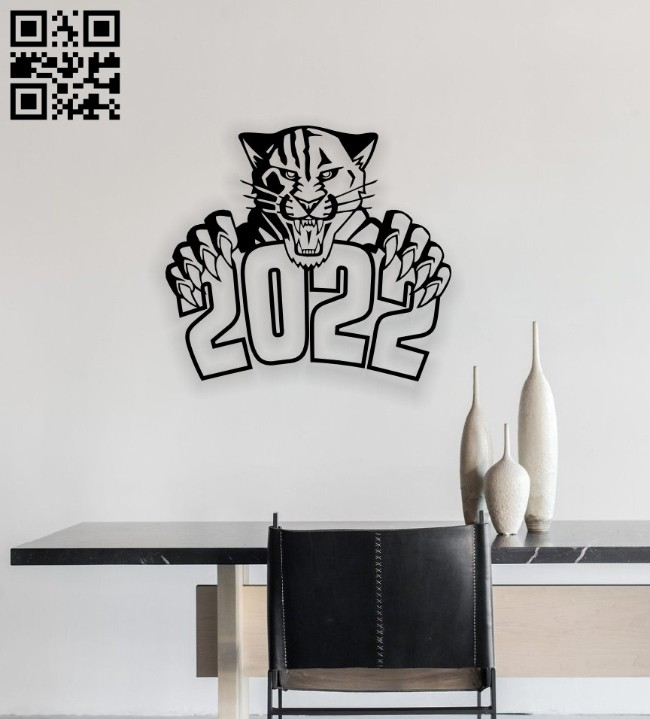 Tiger E0014537 file cdr and dxf free vector download for laser cut plasma