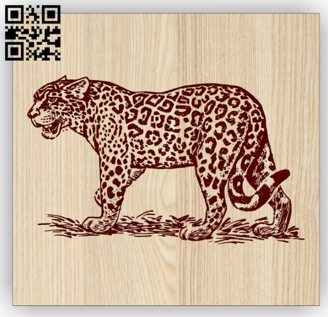 Tiger E0014700 file cdr and dxf free vector download for laser engraving machine