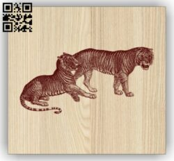 Tigers E0014777 file cdr and dxf free vector download for laser engraving machine