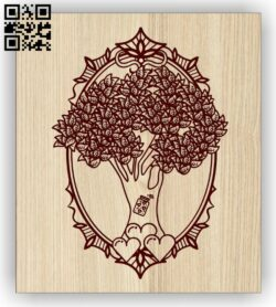 Tree E0014596 file cdr and dxf free vector download for laser engraving machine