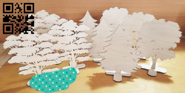 Tree E0014768 file cdr and dxf free vector download for laser cut plasma
