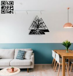 Tree wall decor E0014670 file cdr and dxf free vector download for laser cut plasma