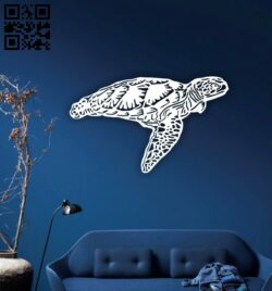 Turtle wall decor E0014690 file cdr and dxf free vector download for laser cut plasma