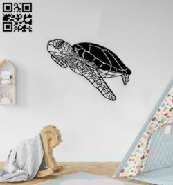 Turtle wall decor E0014745 file cdr and dxf free vector download for laser cut plasma