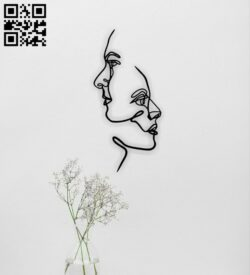 Two faces wall decor E0014862 file cdr and dxf free vector download for laser cut plasma