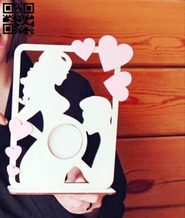 Ultrasound photo frame E0014585 file cdr and dxf free vector download for laser cut