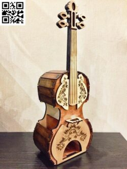 Violin tea holder E0014644 file cdr and dxf free vector download for laser cut
