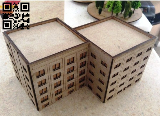 Wargame building E0014613 file cdr and dxf free vector download for laser cut