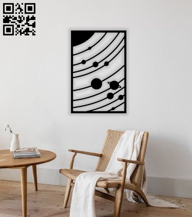 Solar System wall decor E0014491 file cdr and dxf free vector download for laser cut plasma