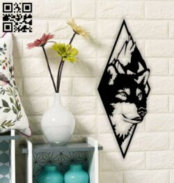 Wolf wall decor E0014752 file cdr and dxf free vector download for laser cut plasma