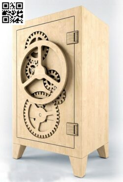 Wooden safe E0014798 file cdr and dxf free vector download for laser cut
