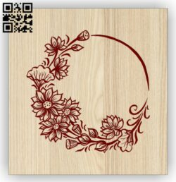 Wreath E0014599 file cdr and dxf free vector download for laser engraving machine