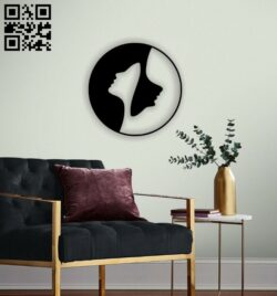 Ying yang E0014477 file cdr and dxf free vector download for laser cut plasma
