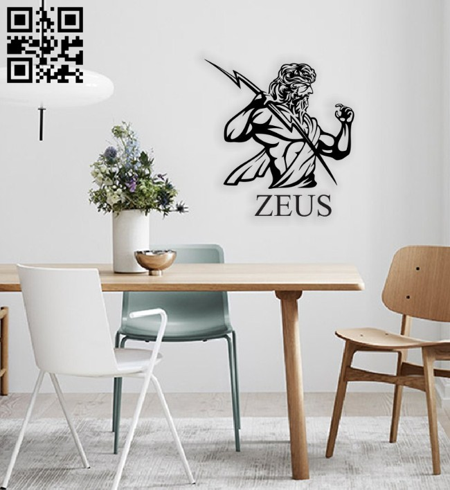Zeus wall decor E0014574 file cdr and dxf free vector download for laser cut