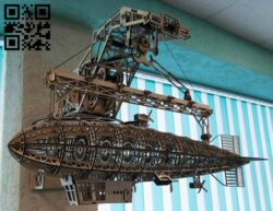 Airship E0015036 file cdr and dxf free vector download for laser cut
